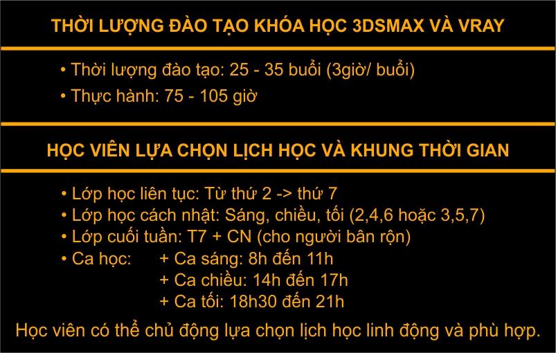 Học 3Ds Max và Vray chuyên nghiệp Hà Nội, TPHCM ở đâu