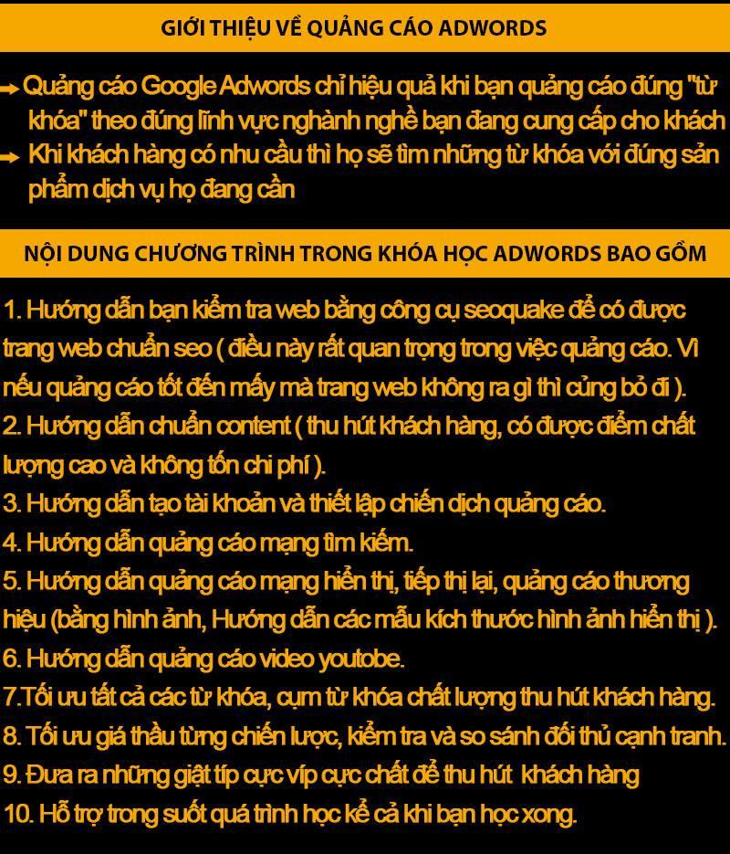 Học google adwords tại Hà Nội